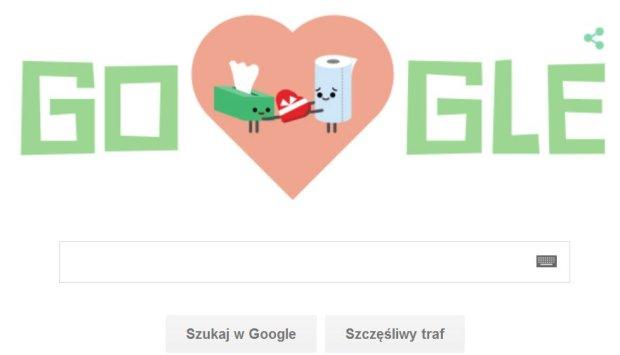 Google na Walentynki