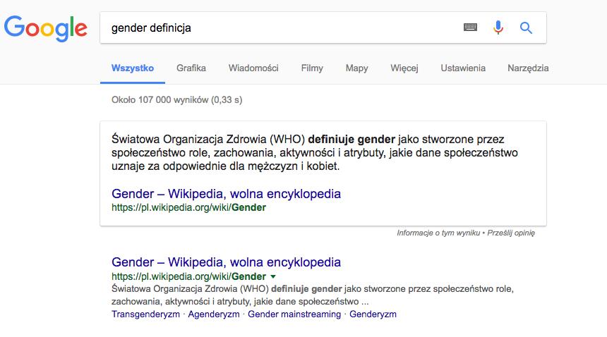 Wyniki organiczne Google dla krótkich zapytań