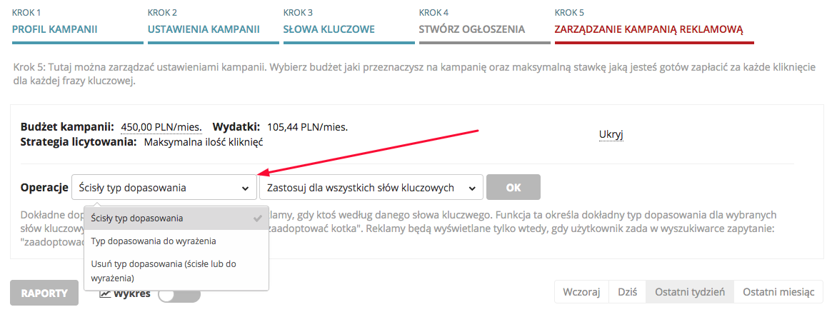Typy dopasowań Google AdWords. Ustawienia w systemie SeoPilot