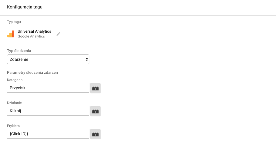 Konfiguracja zdarzeń w Google Analytics - Google tag manager